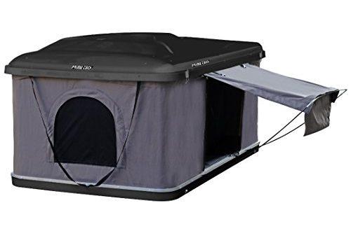 Hartschalen-Autodachzelt 145cm, ABS schwarz / grau, Öffnung automatisch von Prime Tech