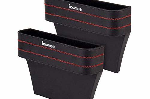 HOOMEE   Multifunktionale Aufbewahrungsbox Für Auto   Premium PU Leder Autositz Seitentaschen Organizer Mit Abnehmbarem Münzsammler   Utensilientasche Für Zusätzliche Lagerung z.B. Handy   2 Boxen