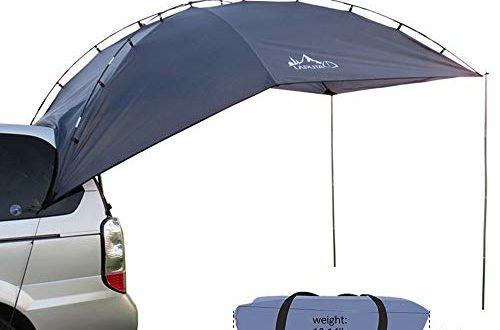 HUKOER Autokonto Outdoor Camping Camping Familie Auto Tail Konto Auto Seite Konto Zelte Heckklappe für das Auto, für Camping und Familie, Sommer Camping Zelt Schatten Zelt Auto Zelt 350 * 240 * 105